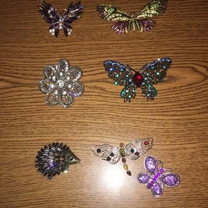 Jewelry - 7 Lovely Vintage Brooches.$12 each or all for $65
